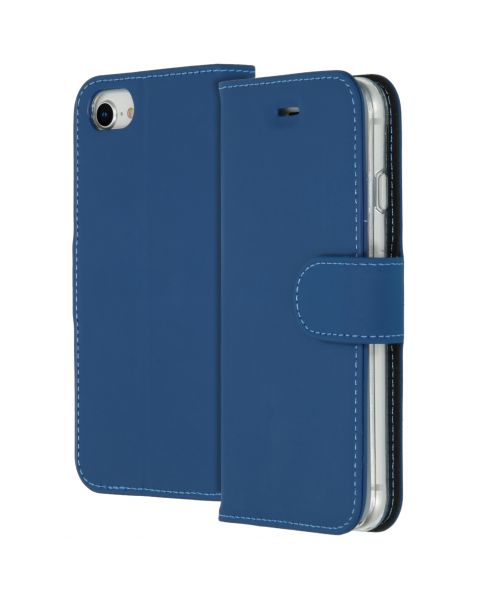 Wallet Softcase Booktype iPhone SE (2020) / 8 / 7 / 6(s) - Blauw / Blue