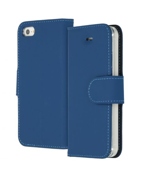 Wallet Softcase Booktype iPhone SE / 5 / 5s - Blauw / Blue