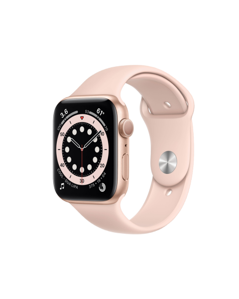 Refurbished Apple Watch Series 6 40mm | Aluminum Case Gold | pink sport band