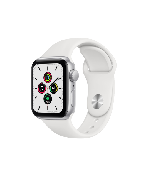 Refurbished Apple Watch Series SE 40mm | Aluminum Case Silver | white sport band