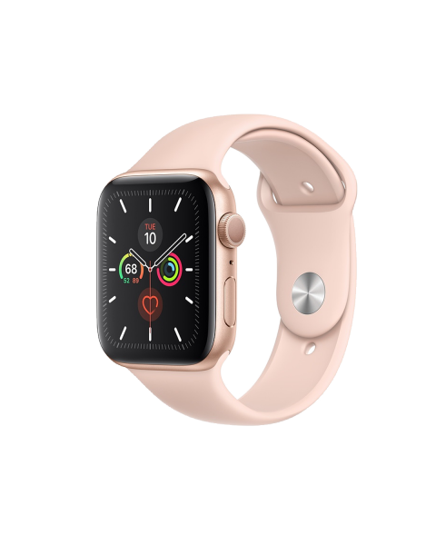 Refurbished Apple Watch Serie 5 40mm GPS Aluminium Case gold with pink armband