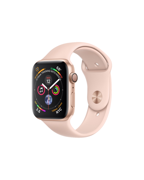 Refurbished Apple Watch Series 4 44mm GPS Aluminum Case Goud met roze sportbandje