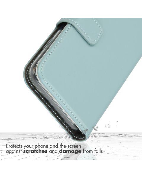 Echt Lederen Booktype iPhone 11 Pro - Lichtblauw - Air Blue