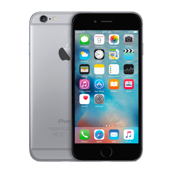 Refurbished iPhone 6 128GB black/space grey